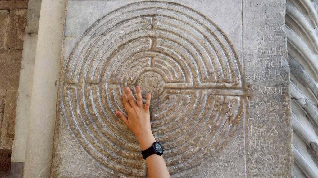 Il labirinto rappresentato alla Cattedrale di San Martino, a Lucca